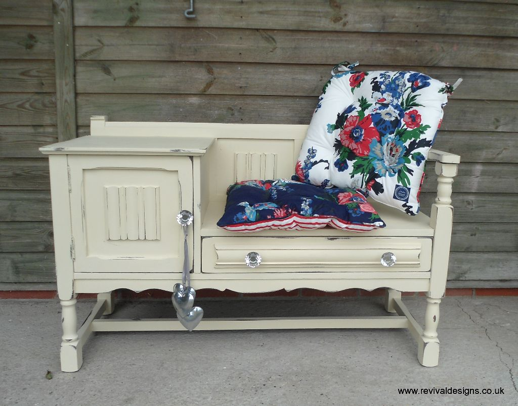Vintage Telephone Table Or Hall Seat Bench Revival Designs